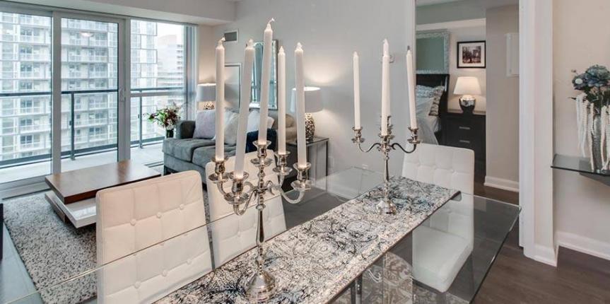 Home staging new-build condo in Toronto