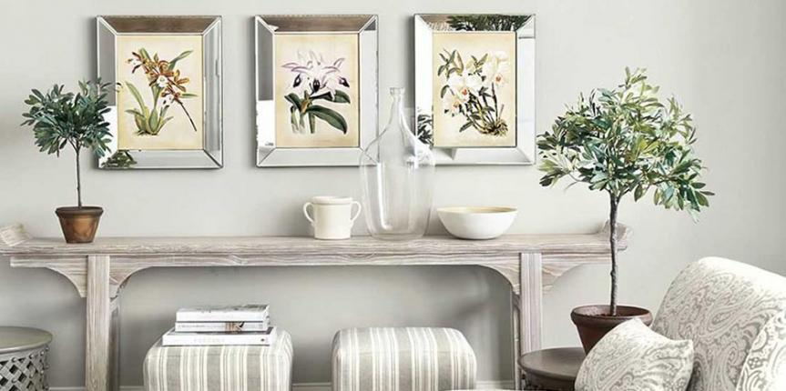 Home staging with a natural theme
